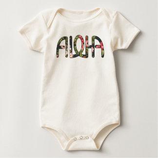 Aloha Tropical Black Baby Bodysuit