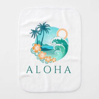 Aloha Tropical Burp Cloth