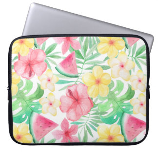 Aloha Tropical Exotic Flowers and Fruits Laptop Sleeve