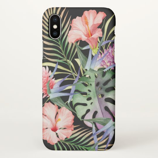 Aloha Tropical Floral Jungle Pattern iPhone X Case