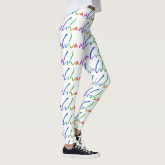 Aloha - Tropical Hand Lettering - Sails and Waves Leggings