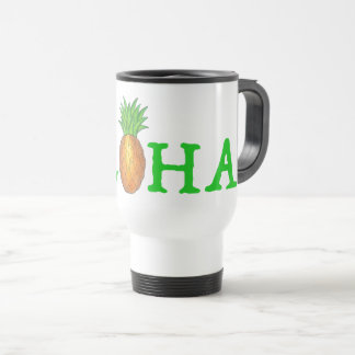 ALOHA Tropical Hawaiian Island Pineapple Fruit Travel Mug