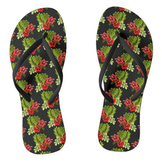 Aloha Tropical Hibiscus Thongs