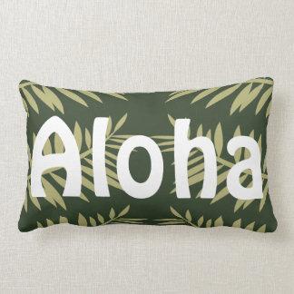 Aloha Tropical Island Green Ferns Lumbar Pillow