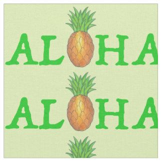 ALOHA Tropical Island Hawaiian Pineapple Fabric