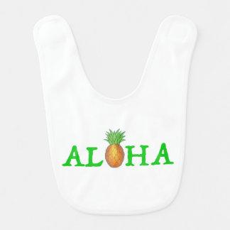 ALOHA Tropical Island Hawaiian Pineapple Green Bib