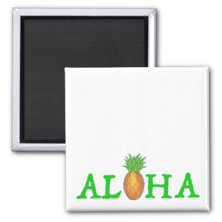 ALOHA Tropical Island Hawaiian Pineapple Magnet