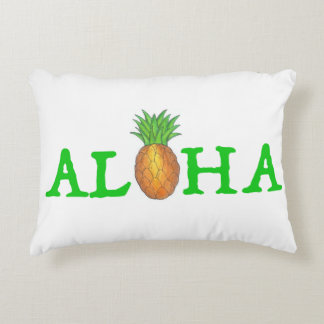 ALOHA Tropical Island Hawaiian Pineapple Pillow