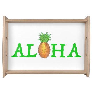 ALOHA Tropical Island Hawaiian Pineapple Tray