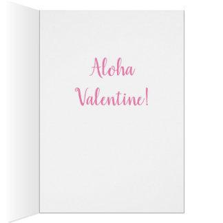 ALOHA Valentine - Hawaiian Hula Girl Card