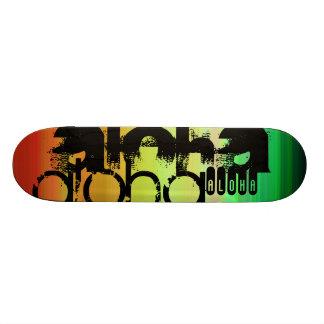 Aloha; Vibrant Green, Orange, & Yellow Skate Boards