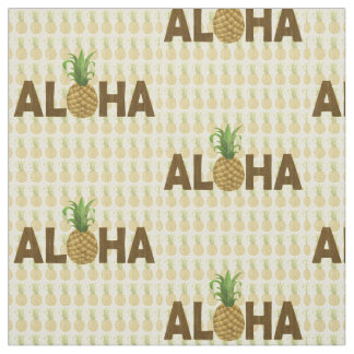 Aloha Vintage Pineapple Hawaiian Hawaii Fabric