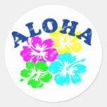 Aloha Vintage Round Sticker