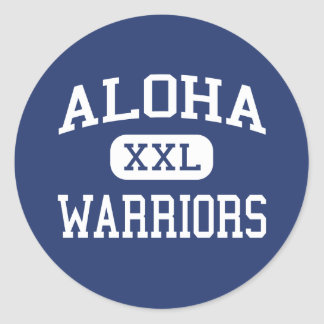 Aloha - Warriors - High School - Aloha Oregon Round Sticker