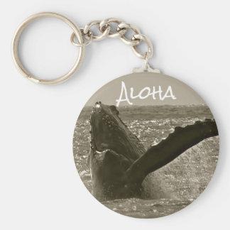 Aloha Whale Key Ring