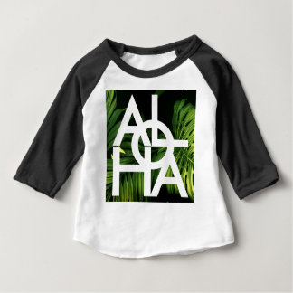Aloha White Graphic Hawaii Palm Baby T-Shirt