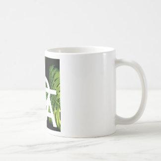 Aloha White Graphic Hawaii Palm Coffee Mug