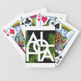 Aloha White Graphic Hawaii Palm Poker Deck