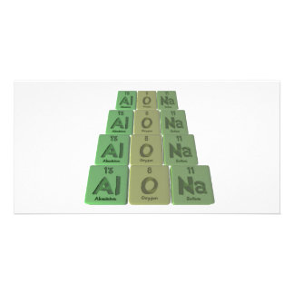 Alona as Aluminium Oxygen Sodium Custom Photo Card