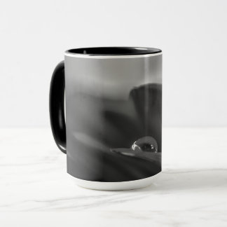 Alone a black and white water drop on Gerber Daisy Mug
