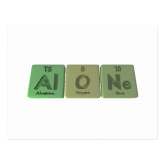 Alone-Al-O-Ne-Aluminium-Oxygen-Neon Postcard