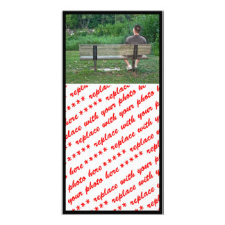 Alone on a Bench (Color) Custom Photo Card