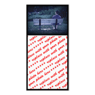 Alone on a Park Bench Photo Cards