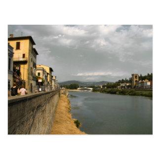Along the Arno Postcard