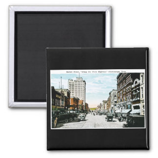 """""""Along the Dixie Highway"""", Chattanooga, Tenn. Square Magnet"""