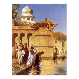 Along the Ghats, Mathura by Edwin Lord Weeks Postcard