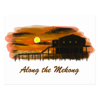 Along the Mekong Postcard