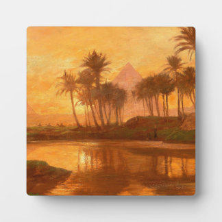 Along the Nile Tabletop Plaque With Easel