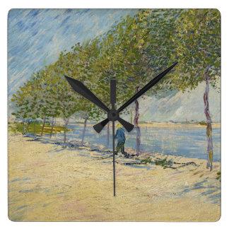 Along the Seine by Vincent Van Gogh Clock