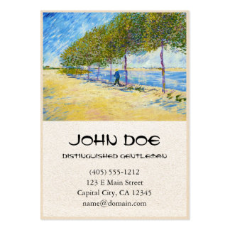 Along the Seine by Vincent Van Gogh Pack Of Chubby Business Cards