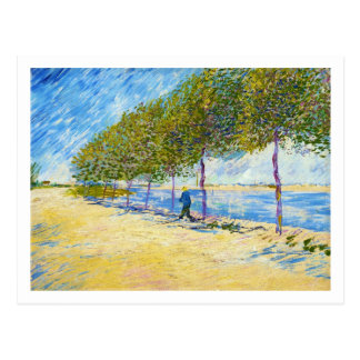 Along the Seine by Vincent Van Gogh Postcard