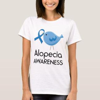Alopecia Awareness Ribbon blue bird T-Shirt