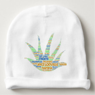 Alove Vera illustrated with cities of Florida USA Baby Beanie