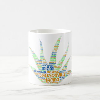 Alove Vera illustrated with cities of Florida USA Coffee Mug