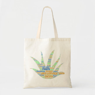 Alove Vera illustrated with cities of Florida USA Tote Bag