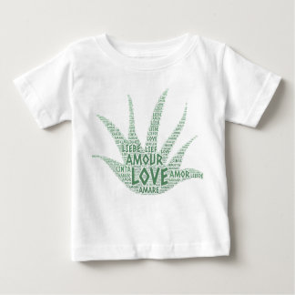 Alove Vera Plant illustrated with Love Word Baby T-Shirt