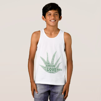 Alove Vera Plant illustrated with Love Word Singlet