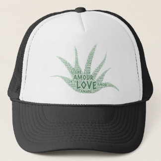 Alove Vera Plant illustrated with Love Word Trucker Hat