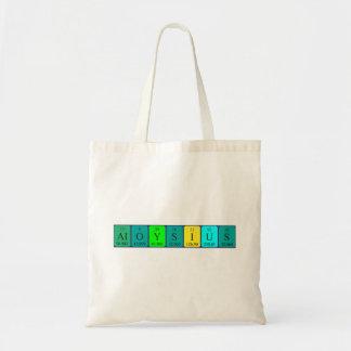 Aloysius periodic table name tote bag