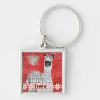 Alpaca  Art Love Keychain