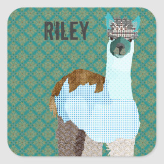 Alpaca Art Name Sticker