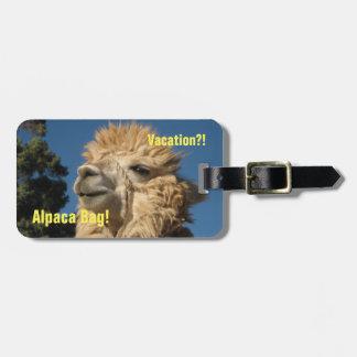 Alpaca Bag Luggage Tag