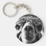 Alpaca Basic Round Button Key Ring