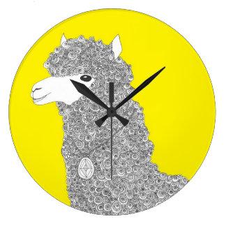 Alpaca clock