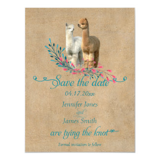 Alpaca Country Save the Date Magnetic Invitations