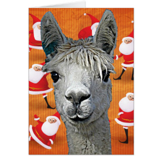 Alpaca Custom YouBeaut Designs Christmas Card